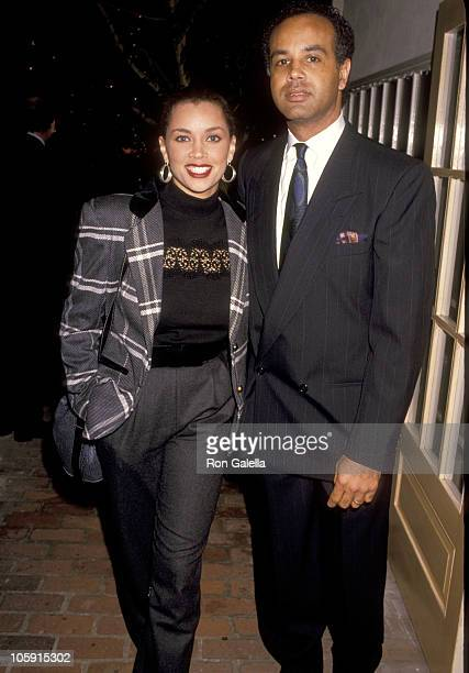 Vanessa L Williams and Ramon Hervey during 1989 United Negro College Fund Awards in Los Angeles California United States