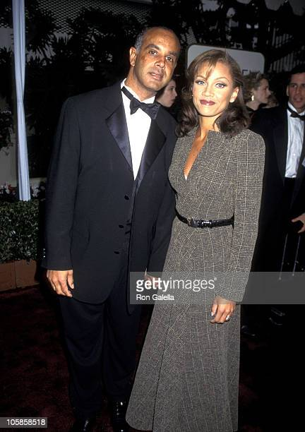 Vanessa L Williams and Ramon Hervey during 53rd Annual Golden Globe Awards at Beverly Hilton Hotel in Beverly Hills California United States