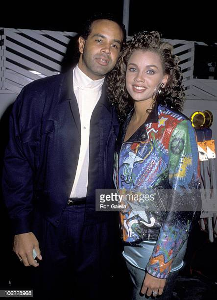 Vanessa L Williams and Ramon Hervey during Vanessa L Williams and Ramon Hervey Sighting at Spago December 6 1988 at Spago in West Hollywood...