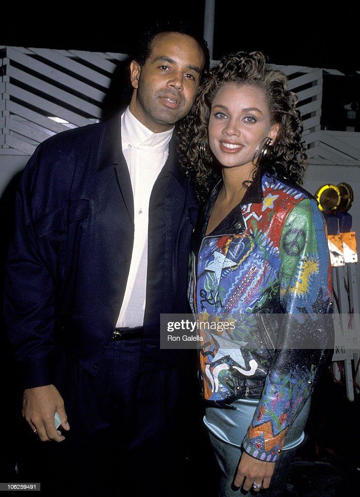 Vanessa L. Williams and Ramon Hervey Sighting at Spago - December 06, 1988 : News Photo