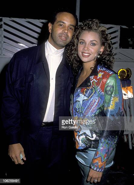 Vanessa L Williams and Ramon Hervey during Vanessa L Williams and Ramon Hervey Sighting at Spago December 06 1988 at Spago in West Hollywood...