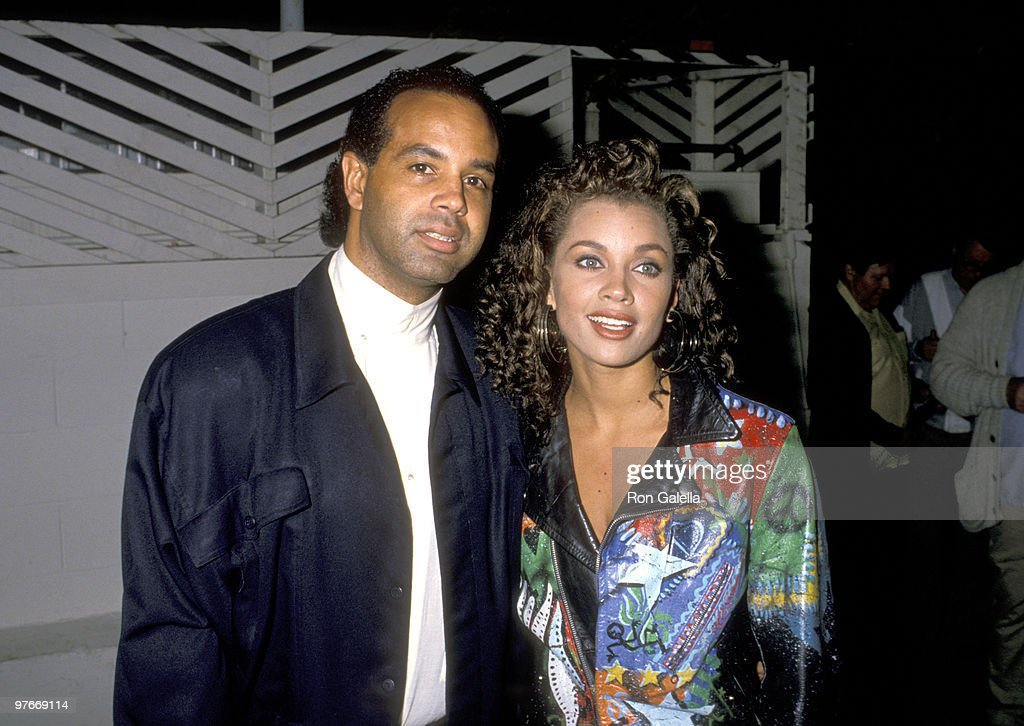 Vanessa L. Williams and Ramon Hervey Sighting at Spago - December 6, 1988 : News Photo
