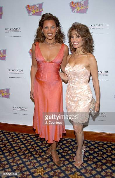 Vanessa L Williams and Susan Lucci during An Evening of Music From 'Guys and Dolls' to Benefit the Iris Cantor Women's Health Center at Sheraton New...