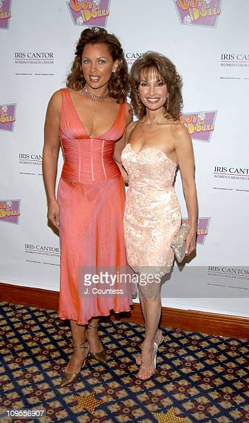 Vanessa L Williams and Susan Lucci during An Evening of Music From Guys and Dolls to Benefit the Iris Cantor Women's Health Center at Sheraton New...