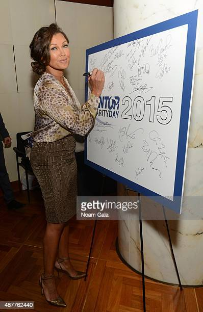 Vanessa L Williams attends the annual Charity Day hosted by Cantor Fitzgerald and BGC at Cantor Fitzgerald on September 11 2015 in New York City