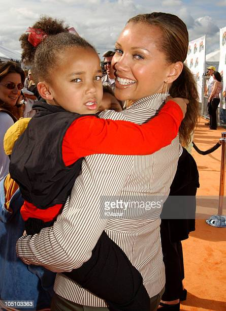Vanessa L Williams daughter during Nickelodeon's 16th Annual Kids' Choice Awards 2003 Arrivals at Barker Hanger in Santa Monica California United...