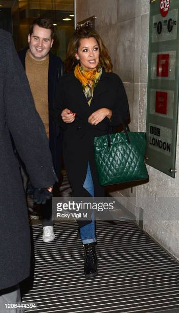 Vanessa L Williams seen leaving The One Show on February 24 2020 in London England