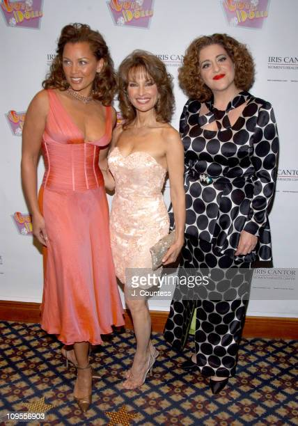 Vanessa L Williams Susan Lucci and Mary Testa during An Evening of Music From 'Guys and Dolls' to Benefit the Iris Cantor Women's Health Center at...