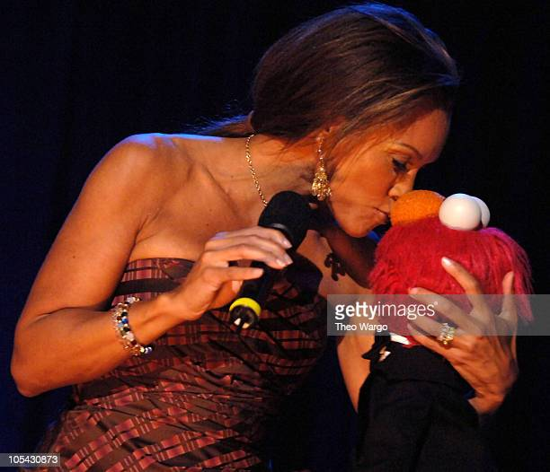 Vanessa L Williams with Elmo during Barbara Walters and Elmo Host Sesame Workshop's Third Annual Benefit Gala at Cipriani in New York City New York...