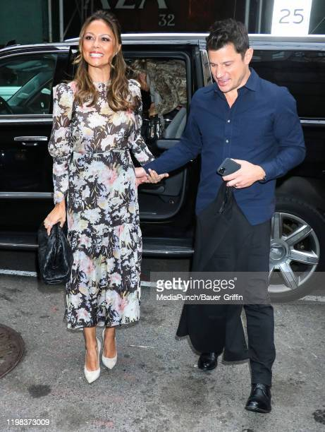 Vanessa Lachey and Nick Lachey are seen on February 03 2020 in New York City