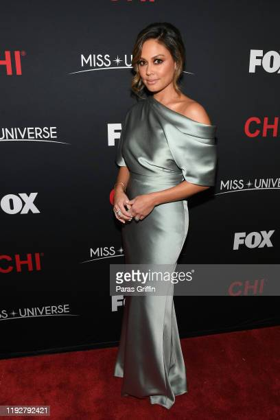 Vanessa Lachey attends the 2019 Miss Universe Pageant at Tyler Perry Studios on December 08 2019 in Atlanta Georgia