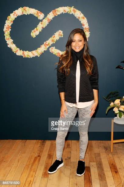 Vanessa Lachey hosts a fashion panel with CALIA lead designer Carrie Underwood and her codesigners Alycia Scott and Freddie McQueen at West Edge on...