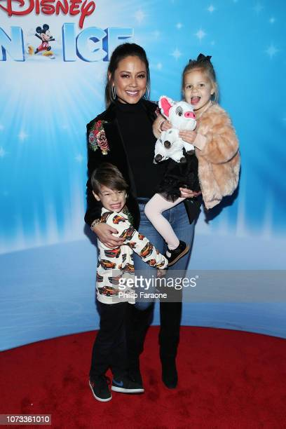 Vanessa Lachey with her children attend Disney On Ice Presents 'Dare To Dream' at Staples Center on December 14 2018 in Los Angeles California