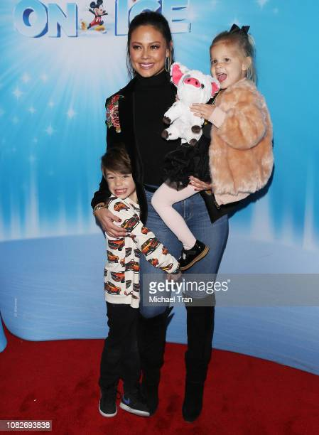 Vanessa Lachey with her children attend Disney On Ice Presents 'Dare To Dream' held at Staples Center on December 14 2018 in Los Angeles California