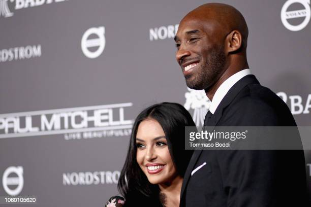 Vanessa Laine Bryant and Kobe Bryant attend the 2018 Baby2Baby Gala Presented by Paul Mitchell at 3LABS on November 10 2018 in Culver City California
