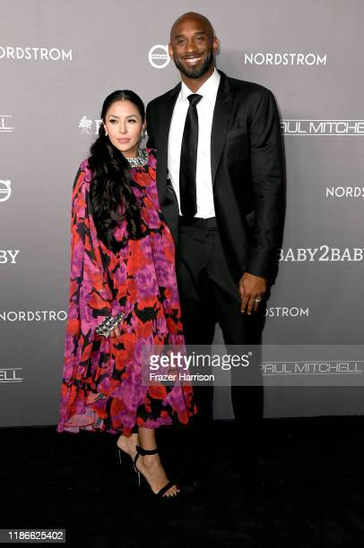 Vanessa Laine Bryant and Kobe Bryant attend the 2019 Baby2Baby Gala presented by Paul Mitchell at 3LABS on November 09 2019 in Culver City California