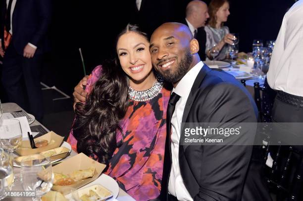 Vanessa Laine Bryant and Kobe Bryant attend the 2019 Baby2Baby Gala presented by Paul Mitchell on November 09 2019 in Los Angeles California