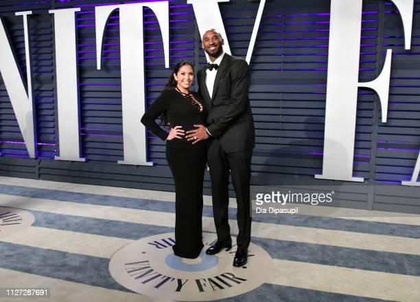 Vanessa Laine Bryant and Kobe Bryant attend the 2019 Vanity Fair Oscar Party hosted by Radhika Jones at Wallis Annenberg Center for the Performing...
