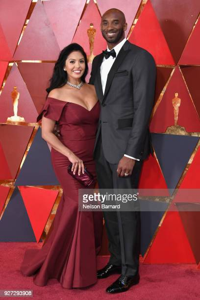 Vanessa Laine Bryant and Kobe Bryant attend the 90th Annual Academy Awards at Hollywood Highland Center on March 4 2018 in Hollywood California