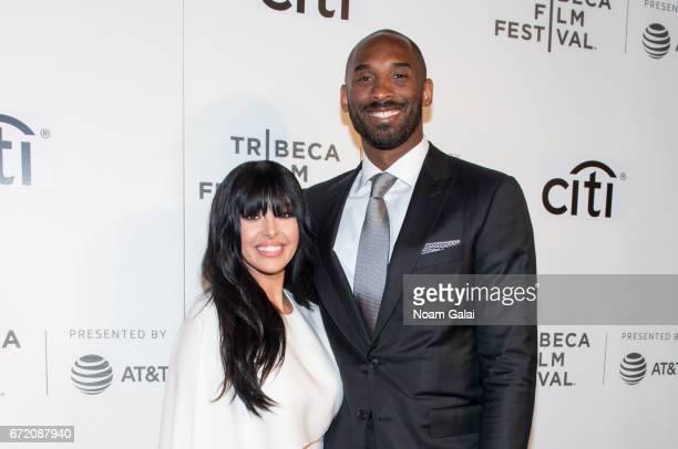 Vanessa Laine Bryant and Kobe Bryant attend Tribeca Talks Storytellers Kobe Bryant with Glen Keane during 2017 Tribeca Film Festival at BMCC Tribeca...