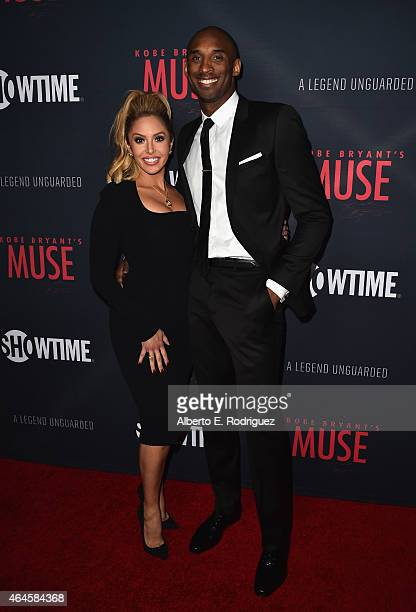 Vanessa Laine Bryant and NBA player Kobe Bryant attend the premiere of Showtime's Kobe Bryant's Muse at The London Hotel on February 26 2015 in West...