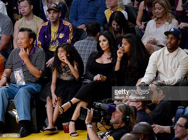 Vanessa Laine Bryant attends Kobe Bryant's final game between the Utah Jazz and the Los Angeles Lakers at Staples Center on April 13 2016 in Los...