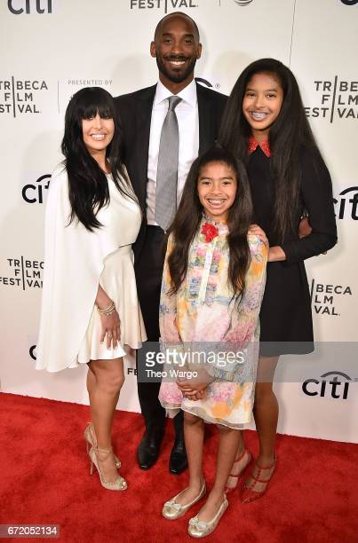 Vanessa Laine Bryant Kobe Bryant Gianna Bryant and Natalia Bryant attend Tribeca Talks Kobe Bryant with Glen Keane 2017 Tribeca Film Festival at BMCC...