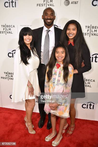 Vanessa Laine Bryant, Kobe Bryant, Gianna Bryant and Natalia Bryant attend Tribeca Talks: Kobe Bryant with Glen Keane - 2017 Tribeca Film Festival at...