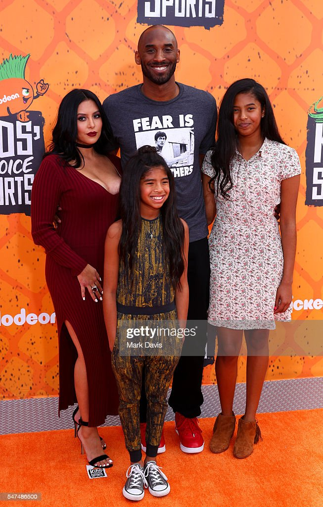 Vanessa Laine Bryant, Kobe Bryant, Gianna Maria-Onore Bryant and Natalia Diamante Bryant attend the Nickelodeon Kids' Choice Sports Awards at UCLA's Pauley Pavilion on July 14, 2016 in Westwood, California.
