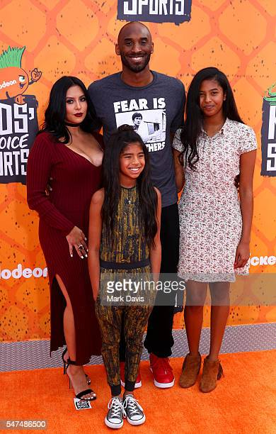 Vanessa Laine Bryant Kobe Bryant Gianna MariaOnore Bryant and Natalia Diamante Bryant attend the Nickelodeon Kids' Choice Sports Awards at UCLA's...
