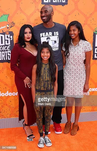 Vanessa Laine Bryant Kobe Bryant Gianna MariaOnore Bryant and Natalia Diamante Bryant attend the Nickelodeon Kids' Choice Sports Awards at UCLA's...