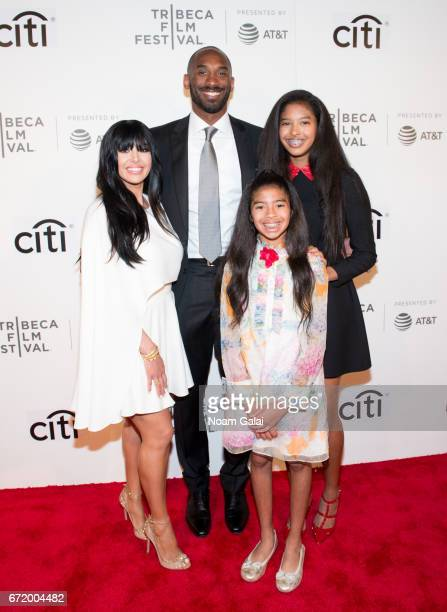 Vanessa Laine Bryant, Kobe Bryant, Gianna Maria-Onore Bryant and Natalia Diamante Bryant attend Tribeca Talks: Storytellers: Kobe Bryant with Glen...