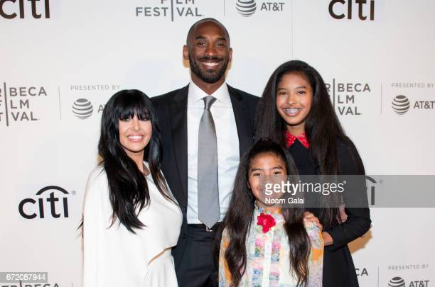 Vanessa Laine Bryant Kobe Bryant Gianna MariaOnore Bryant and Natalia Diamante Bryant attend Tribeca Talks Storytellers Kobe Bryant with Glen Keane...