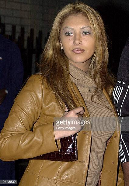 Vanessa Laine the fiancee of basketball star Kobe Bryant arrives at the Kobe Bryant/Adidas launch party October 18 2000 in Hollywood CA