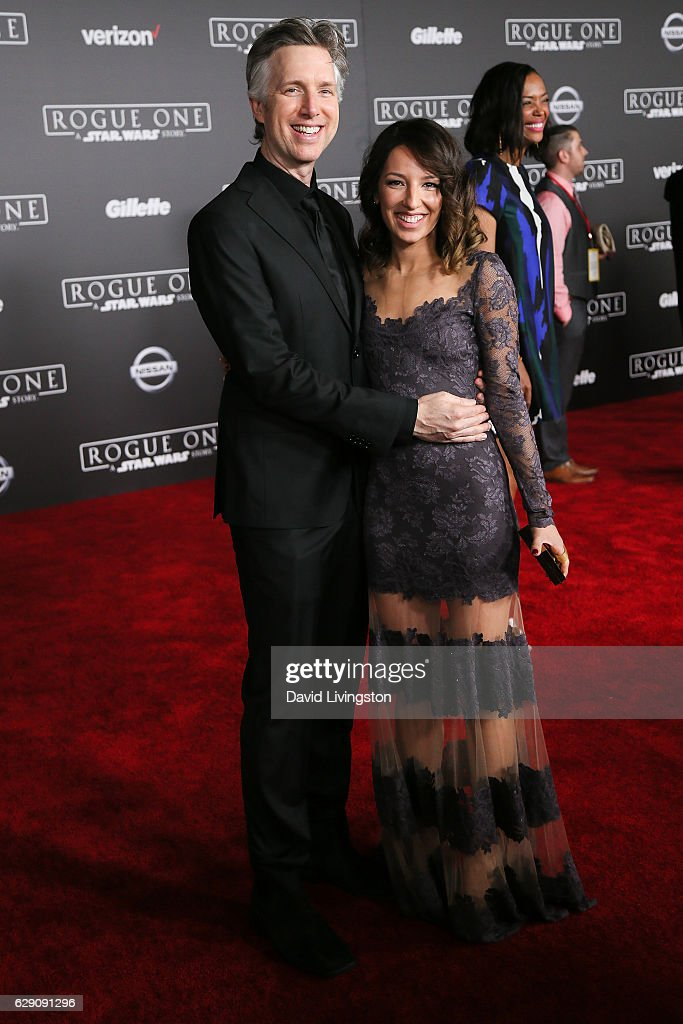 Vanessa Lengies (R) and guest arrive at the premiere of Walt Disney Pictures and Lucasfilm's 'Rogue One: A Star Wars Story' at the Pantages Theatre on December 10, 2016 in Hollywood, California.