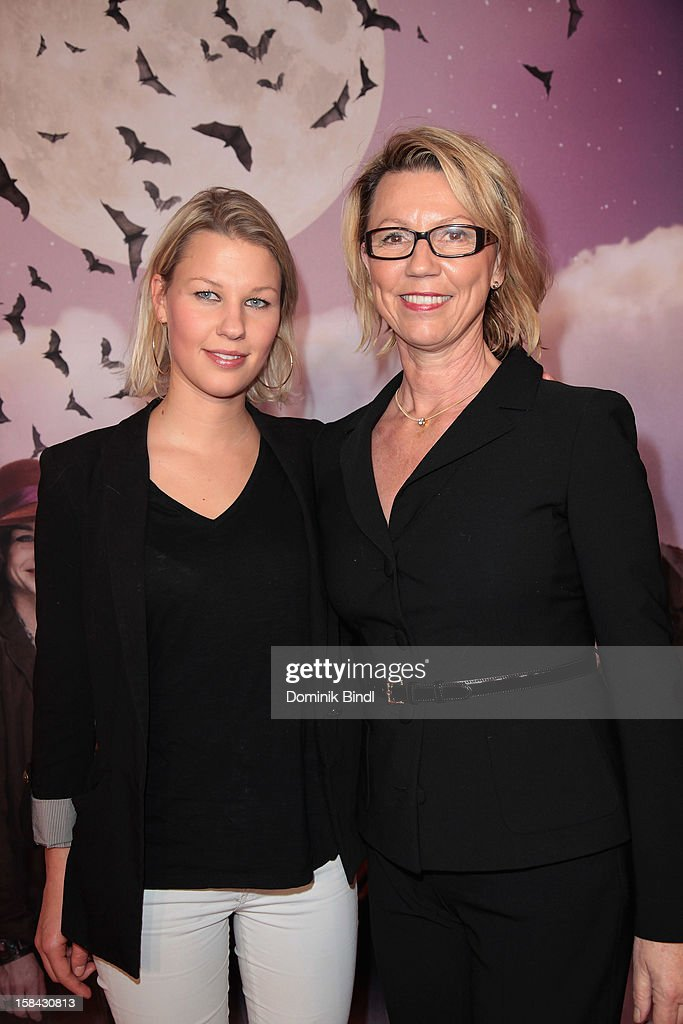 Vanessa Lindner and Daniela Lindner attend the 'Die Vampirschwestern' Germany Premiere on December 16, 2012 in Munich, Germany.