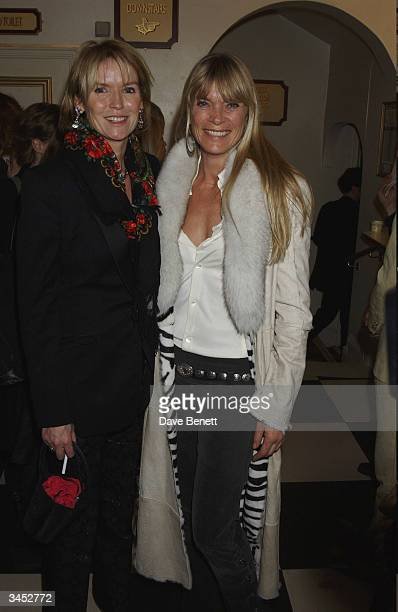 Vanessa Llewellyn and Deborah Leng attend the Dangerous Liasons Press Night at The Playhouse Theatre on December 13 2003 in London
