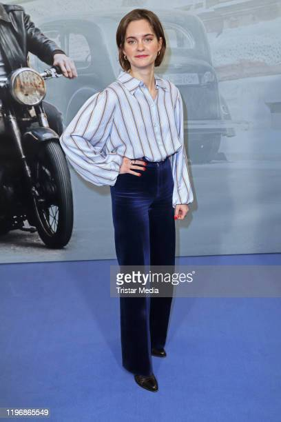 "Vanessa Loibl attends the ""Unsere wunderbaren Jahre"" press conference on January 27, 2020 in Hamburg, Germany."