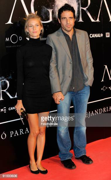 Vanessa Lorenzo and Daniel Ecija attend the Agora premiere at Kinepolis Cinema on October 6 2009 in Madrid Spain
