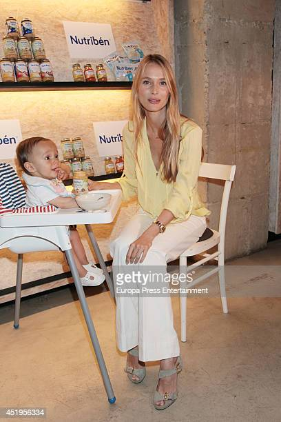 Vanessa Lorenzo Inaugurates Petit Bistro the first restaurant for babies by Nutriben at Magasand restaurant on July 9 2014 in Madrid Spain