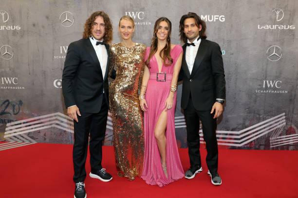 Vanessa Lorenzo Laureus Academy Member Carles Puyol Ona Carbonell and her boyfriend Pablo Ibanez attend the 2020 Laureus World Sports Awards at Verti...