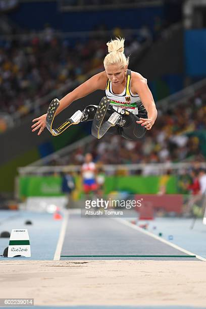 Vanessa Low of Germany competes in the women's long jump T42 final on day 3 of the Rio 2016 Paralympic Games at Olympic stadium on September 10 2016...