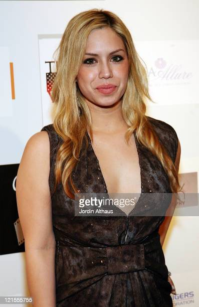 Vanessa Luberti poses on the red carpet before the screening of This is War during the first day of the Cinema City International Film Festival Mid...