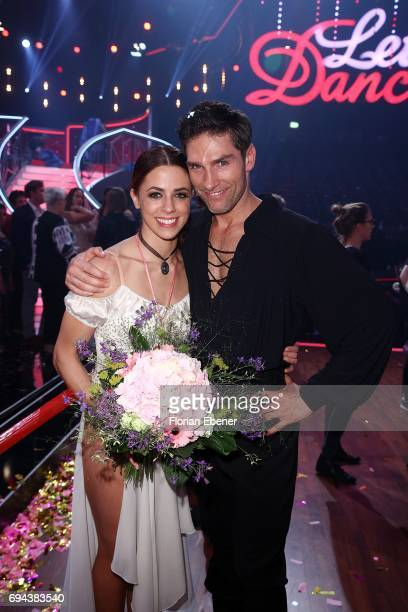 Vanessa Mai and Christian Polanc during the final show of the tenth season of the television competition 'Let's Dance' on June 9 2017 in Cologne...