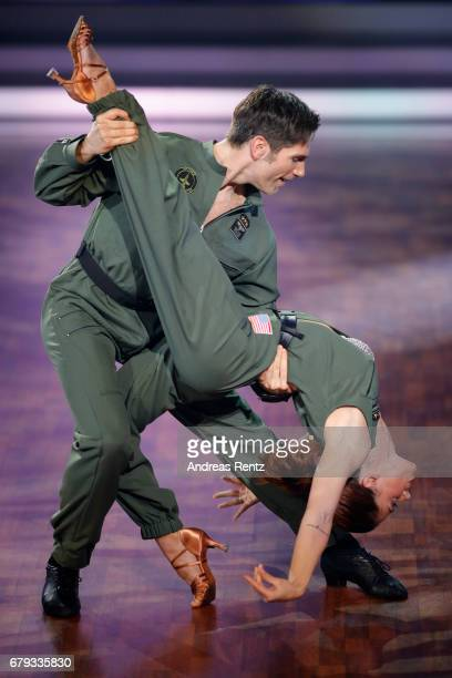 Vanessa Mai and Christian Polanc perform on stage during the 7th show of the tenth season of the television competition 'Let's Dance' on May 5 2017...