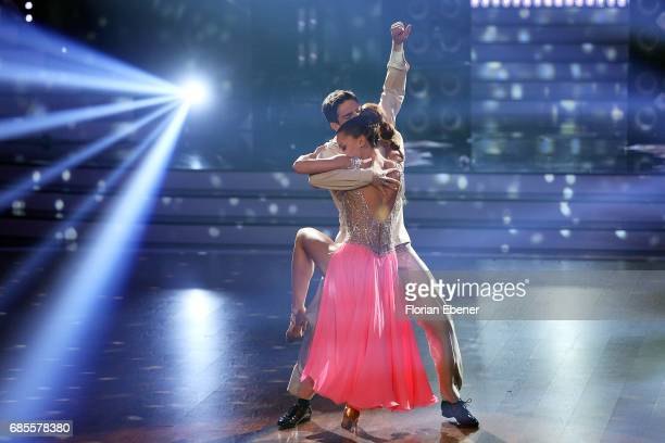Vanessa Mai and Christian Polanc perform on stage during the 9th show of the tenth season of the television competition 'Let's Dance' on May 19 2017...