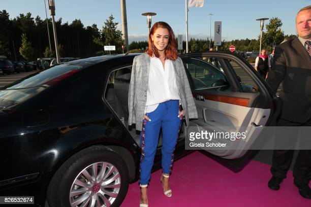 Vanessa Mai arrives the late night shopping at Designer Outlet Soltau on August 4 2017 in Soltau Germany
