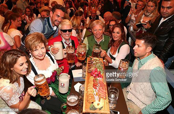 Vanessa Mai Carolin Reiber Florian Silbereisen Heino Andrea Berg and her husband Uli Ulrich Ferber and Andreas Ferber stepson and manager during the...