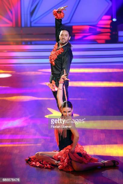 Vanessa Mai, Christian Polanc, Gil Ofarim and Ekaterina Leonova perform on stage during the 9th show of the tenth season of the television...