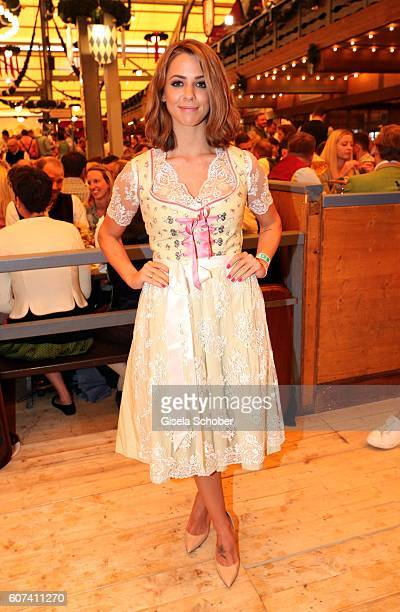 Vanessa Mai during the opening of the oktoberfest 2016 at the Schottenhamel beer tent at Theresienwiese on September 17 2016 in Munich Germany
